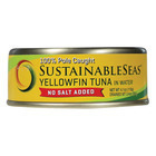 Sustainable Seas Yellowfin Tuna in Water - No Salt Added - Case of 12 - 4.1 oz.