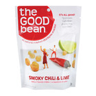 The Good Bean Crispy Crunchy Chickpea Snacks - Smoky Chili and Lime - Case of 12 - 2.5 oz.
