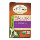 Twinings Tea - 100 Percent Organic - Green - with Jasmine - 20 Bags - Case of 6
