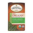 Twinings Tea - 100 Percent Organic - Green - Pure - 20 Bags - Case of 6