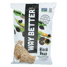 Way Better Snacks Tortilla Chips - Black Bean - Case of 12 - 5.5 oz.