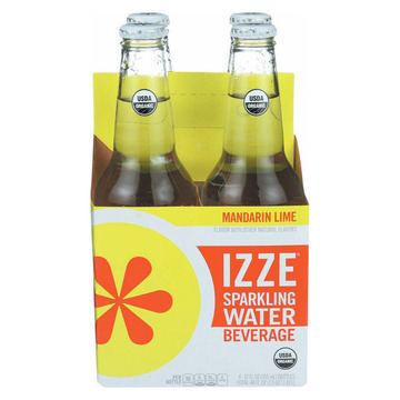 Izze Organic Sparkling Water - Mandarin Lime - Case of 6 - 12 Fl oz.