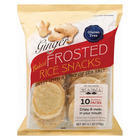 Kameda Frosted Rice Crackers - Ginger - Case of 6 - 4.1 oz.