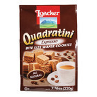 Loacker Quadratini Espresso Bite Size Wafer Cookies - Case of 8 - 7.76 oz.