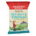 Jackson's Honest Chips Potato Chips - Sea Salt and Vinegar - Case of 36 - 1.2 oz.