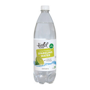 Field Day Lime Flavored Sparkling Water - Sparkling Water - Case of 12 - 33.8 FL oz.