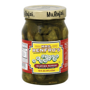 Mrs. Renfro's Nacho Sliced Jalapeno Peppers - Pepper - Case of 6 - 16 oz.