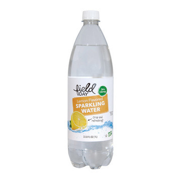 Field Day Lemon Flavored Sparkling Water - Sparkling Water - Case of 12 - 33.8 FL oz.