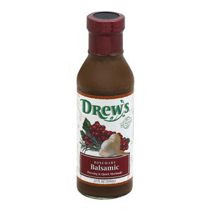 Drews All Natural Rosemary Balsamic Dressing and Quick Marinade - Case of 6 - 12 FL oz.
