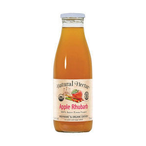 Natural Nectar Fruit Juices - Apple Rhubarb - Case of 6 - 25.4 Fl oz.