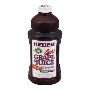 Kedem Lite Grape Juice - Case of 8 - 64 Fl oz.