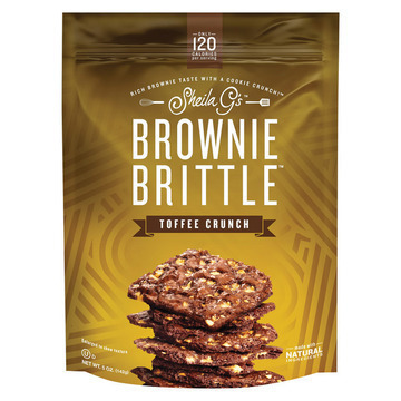 Sheila G's Brownie Brittle - Toffee Crunch - Case of 12 - 5 oz.