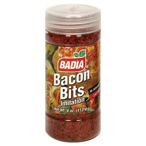 Badia Spices Imitation Bacon Bits - Case of 12 - 4 oz.