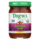 Drew's Organics Chipotle Lime Salsa - 12 Oz. - Case of 6