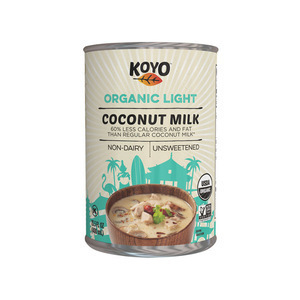 Koyo Organic Coconut Milk - Light - Case of 12 - 13.5 oz.