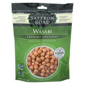 Saffron Road Crunchy Chickpeas - Wasabi - Case of 12 - 6 oz.