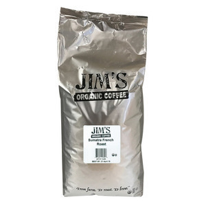 Jim's Organic Coffee - Whole Bean - Sumatra French Roast - Bulk - 5 lb.