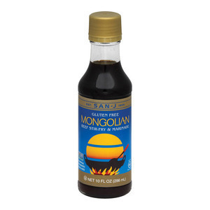 San - J Cooking Sauce - Mongolian - Case of 6 - 10 Fl oz.