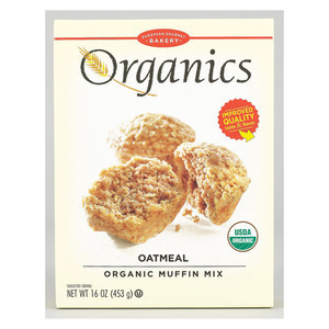 European Gourmet Bakery Organic Oatmeal Muffin Mix - Oatmeal - Case of 12 - 16 oz.