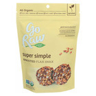 Go Raw - Organic Sprouted Flax Snax - Super Simple - Case of 12 - 3 oz.