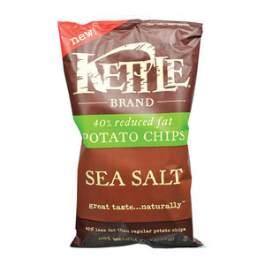 Kettle Brand Potato Chips - Sea Salt - Case of 12 - 8 oz.