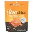 Jicachips Jicama Chips - Cinnamon Sugar - Case of 8 - 0.9 oz.