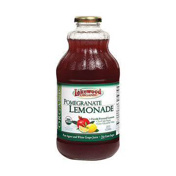 Lakewood Organic Pomegranate Lemonade Juice - Lemonade - Case of 12 - 32 Fl oz.