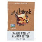 Wild Friends Almond Butter - Creamy Plain - Case of 10 - 1.15 oz.