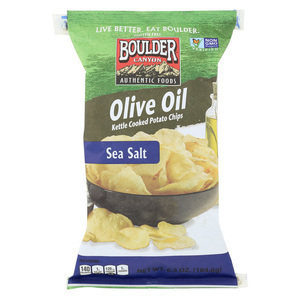 Boulder Canyon Natural Foods Kettle Chips - Olive Oil - Case of 12 - 6.5 oz.