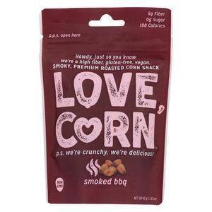 Love Corn - Roasted Corn BBQ - Case of 10 - 1.6 OZ