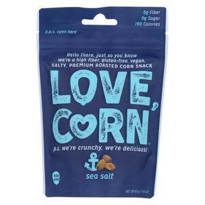 Love Corn - Roasted Corn Sea Salt - Case of 10 - 1.6 OZ