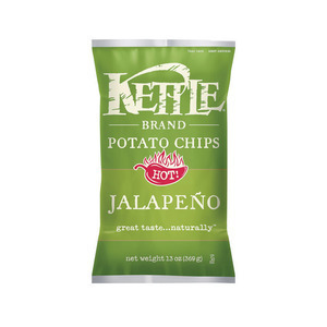 Kettle Brand Potato Chips - Jalapeno - Case of 10 - 13 oz.