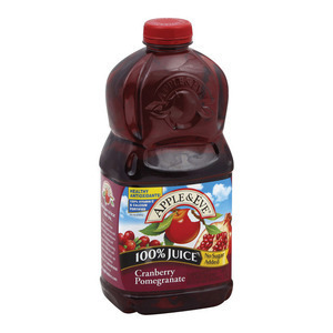Apple and Eve 100 Percent Juice - Cranberry Pomegranate - Case of 8 - 64 Fl oz.