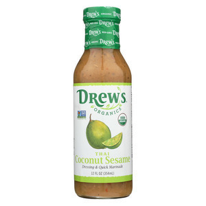 Drew's Organics Organic Dressing and Quick Marinade - Thai Coconut Sesame - 12 Fl. Oz. - Case of 6