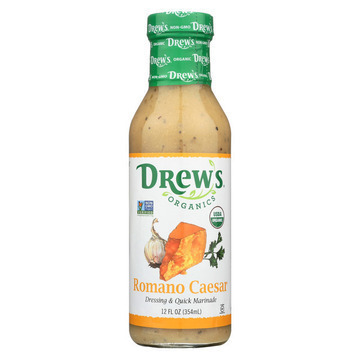 Drew's Organics Organic Dressing and Quick Marinade - Romano Caesar - 12 Fl. Oz. - Case of 6