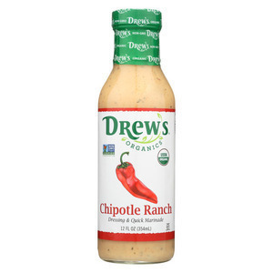 Drew's Chipotle Ranch Dressing and Quick Marinade - 12 Oz. - Case of 6