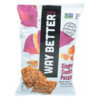 Way Better Snacks Tortilla Chips - Ginger Sweet Potato - Case of 12 - 5.5 oz.