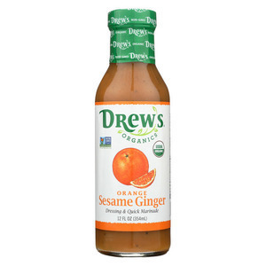 Drew's Organics Organic Dressing and Quick Marinade - Orange Sesame Ginger - 12 Fl. Oz. - Case of 6