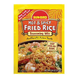 Sunbird Seasoning Mix - Hot Spicy Fried Rice - Case of 24 - 0.75 oz.