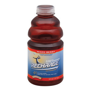 R.W. Knudsen Recharge Juice - Mixed Berry - Case of 12 - 32 Fl oz.
