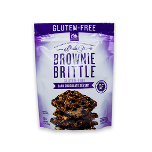 Gluten-Free Dark Chocolate Sea Salt Brownie Brittle