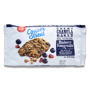 Blueberry Pomegranate Chewy Granola Bakes