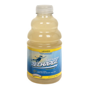 R.W. Knudsen Drink - Lemon Recharge - Case of 12 - 32 Fl oz.