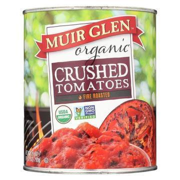 Muir Glen Fire Roasted Crushed Tomato - Tomato - Case of 12 - 28 oz.