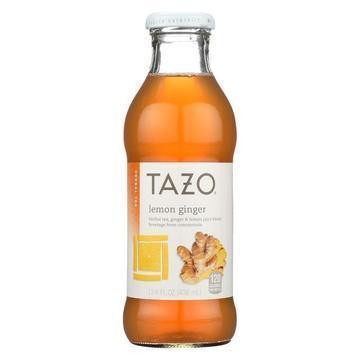 Tazo Tea Iced Tea - Lemon Ginger - Case of 12 - 13.8 fl oz