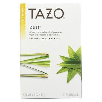 Tazo Tea Green Tea - Zen - Case of 6 - 20 BAG