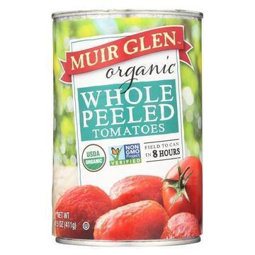 Muir Glen Whole Peeled Tomatoes - Tomatoes - Case of 12 - 14.5 oz.