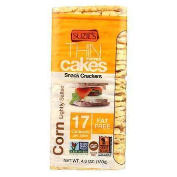 Suzie's Thin Cakes - Corn Lightly Salted - Case of 12 - 4.6 oz.