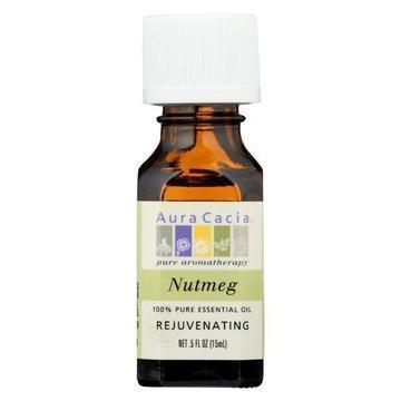 Aura Cacia - Pure Essential Oil Nutmeg - 0.5 fl oz