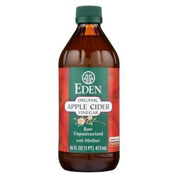 Eden Foods 100% Organic Unfiltered Apple Cider Vinegar - Case of 12 - 16 fl oz